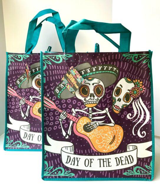 Dia de los Muertos Sugar Skull Reusable Tote Bag X-large