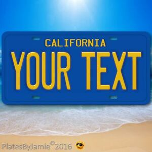 California-ANY-TEXT-Your-Personalized-Text-Aluminum-Vanity-License-Plate-6-034-x12-034