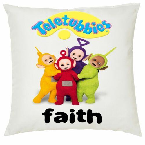 Personalised Kids TeleTubbies Soft Cushion Cover 40x40cm