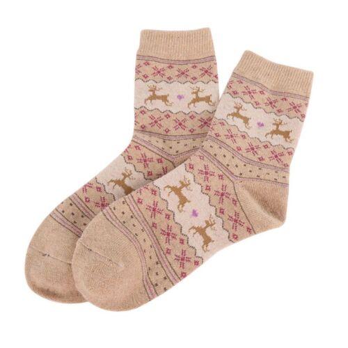 Women Socks Short Sock Fashion Winter Wool Ladies Cute Socks New Christmas Gift