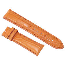 Hadley Roma 20 MM Matte Orange Alligator Leather Strap