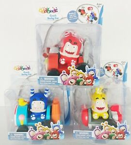 NEW-Oddbods-Crash-Derby-Car-Pogo-Bubbles-Fuse-Figure-and-Vehicle-You-Choose