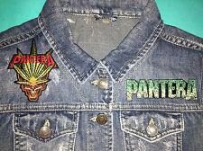 Pantera Girls Denim Cut-Off Waistcoat Vest Gilet Jacket Cowboys From Hell Down
