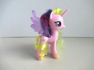 "My Little Pony G4 Tinsel Hair Glitter Brushable Princess Cadance  4"" MLP"