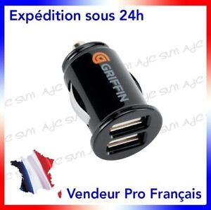 Chargeur-Allume-Cigare-Double-Port-Usb-Griffin-Pour-Samsung-Galaxy-Grand-2