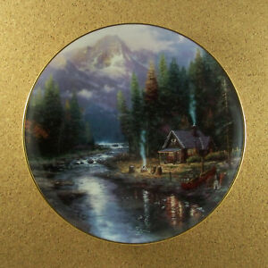 Wish-You-were-Here-by-Thomas-Kinkade-A-QUIET-EVENING-AT-RIVERLODGE-Plate-2