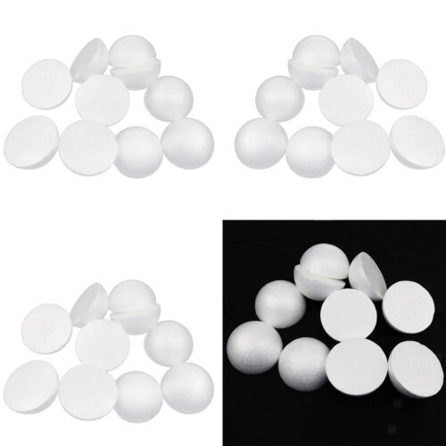 30x Half Round Styrofoam Polystyrene Foam Ball for DIY Handmade Craft 10cm