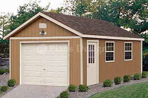 Garage Plans 12 x 24 Structures Building Gable Shed Blueprints