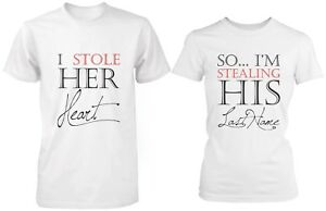 buy online f95e1 ed044 Image is loading His-and-Hers-Couple-Shirts-I-Stole-Her-