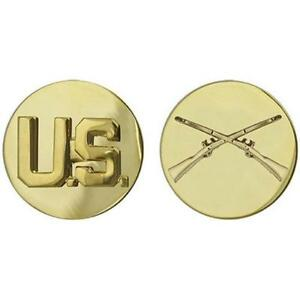 USA-Army-Enlisted-Collar-Device-Infantry-NEW-Army-Issue