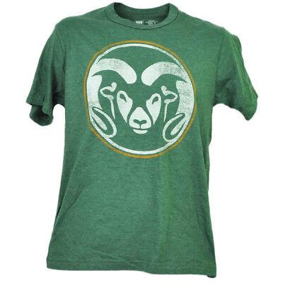 Ncaa Colorado Staat Rams Distressed Logo T-shirt Herren Kurzarm Rundhals ZuverläSsige Leistung Sport