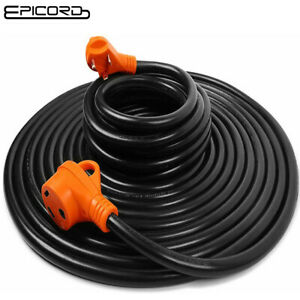 25 ft  30 Amp RV Extension Cord Power Cable Trailer Motorhome Camper Generator