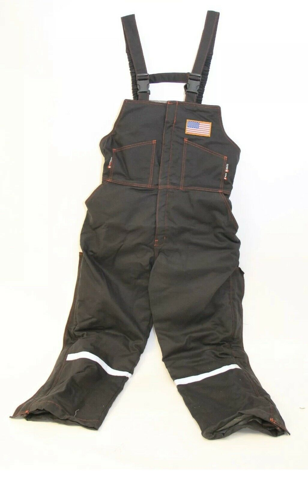 with American Flag Patch 99046 Custom Blaze Tex FR Bib Overalls HRC 3