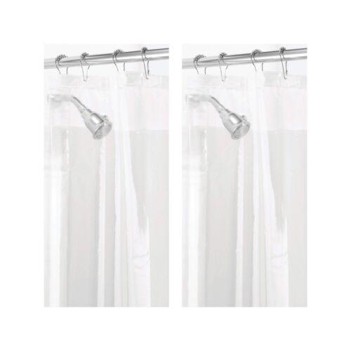 Mold//Mildew Resistant Heavy Duty PEVA Shower Curtain Lin... mDesign Waterproof