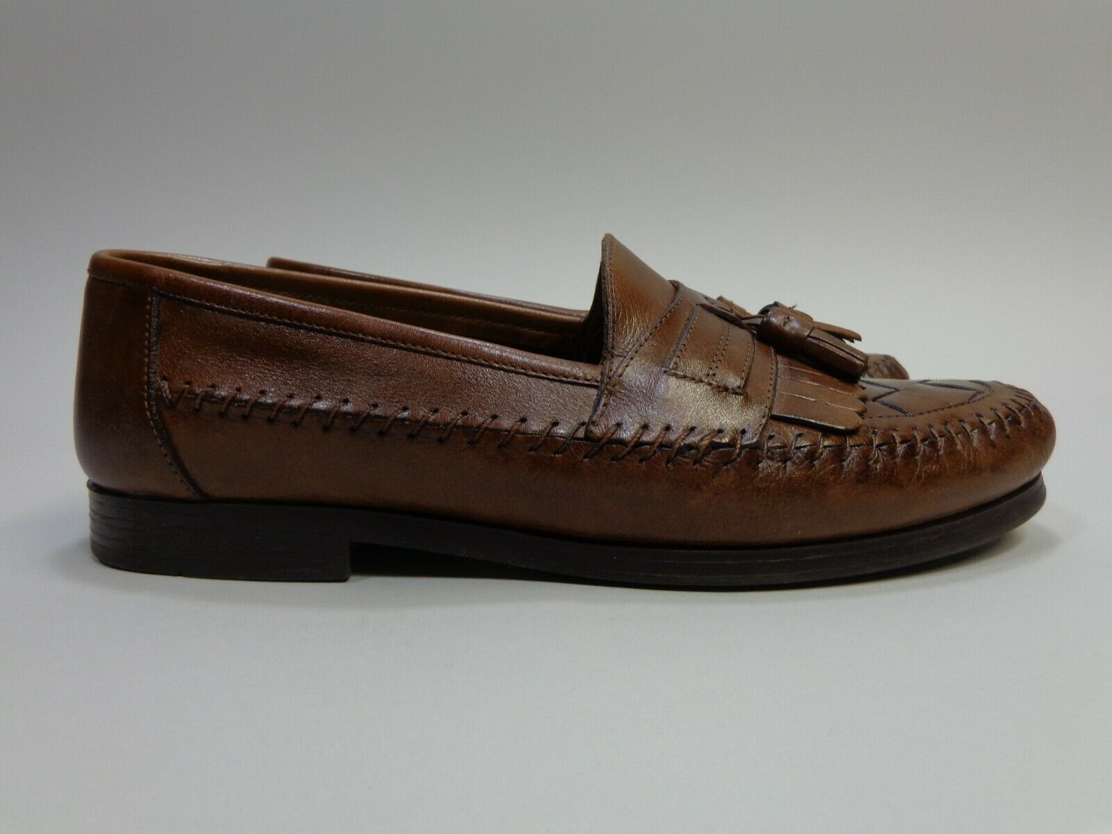 Giorgio Brutini Woven Tassel Kiltie Loafers Brown Leather Mens Size 10 M