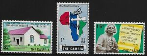 Gambia-Scott-250-52-Singles-1971-Complete-Set-FVF-MNH