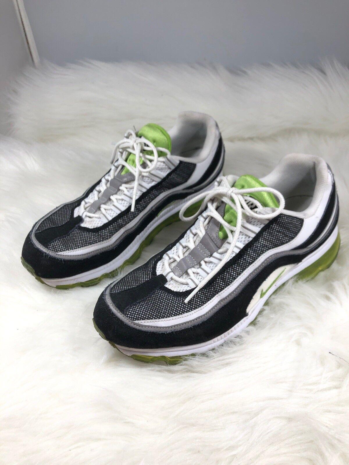 Nike Air Max White Green Black Metallic Silver 397252-102 Mens Sz 12 H1e