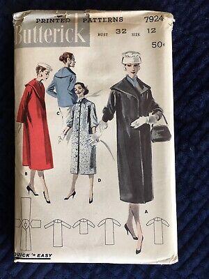 Sz 14 12 Designed Especally For Misses/' /& Women 5/' 4 Slimliner Front Buttoned Dress In Half Sizes Vintage Butterick 2880