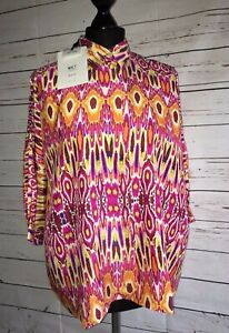 10 Shirt Silk Goa Eu Orange Mkt Pink 2 Uk Sibily Taglia Studio Oversized 38 Print qTxF7gw