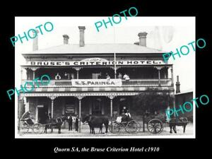 OLD-LARGE-HISTORIC-PHOTO-OF-QUORN-SA-VIEW-OF-THE-BRUSE-CRITERION-HOTEL-c1910