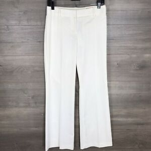 Express Women's Size 4 Editor Low Rise Flare Leg Dress Pants White Striped NEW
