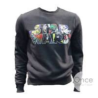 Primark Offficial Mens Star Wars Character Filled Logo Jumper Sweatshirt