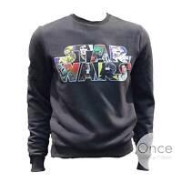 Primark Offficial Mens Star Wars Character Filled Logo Jumper Sweatshirt