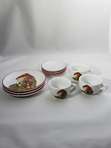 Reutter-Porcelain-Porcupine-Mini-Tea-Set-Set-of-3-Fine-Germany