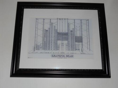 "Large Framed WALL OF SOUND Grateful Dead '74 Speaker Schematic Poster, 24"" x 20"""