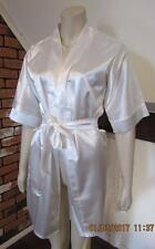 DKaren Luxury Satin Nightwear Kimono Robe size S ECRU / WHITE  new with tag #3