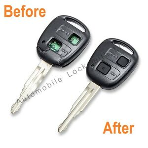 For Toyota Avensis Landcruiser 2 / 3 Button Remote Key Fob REPAIR SERVICE FIX