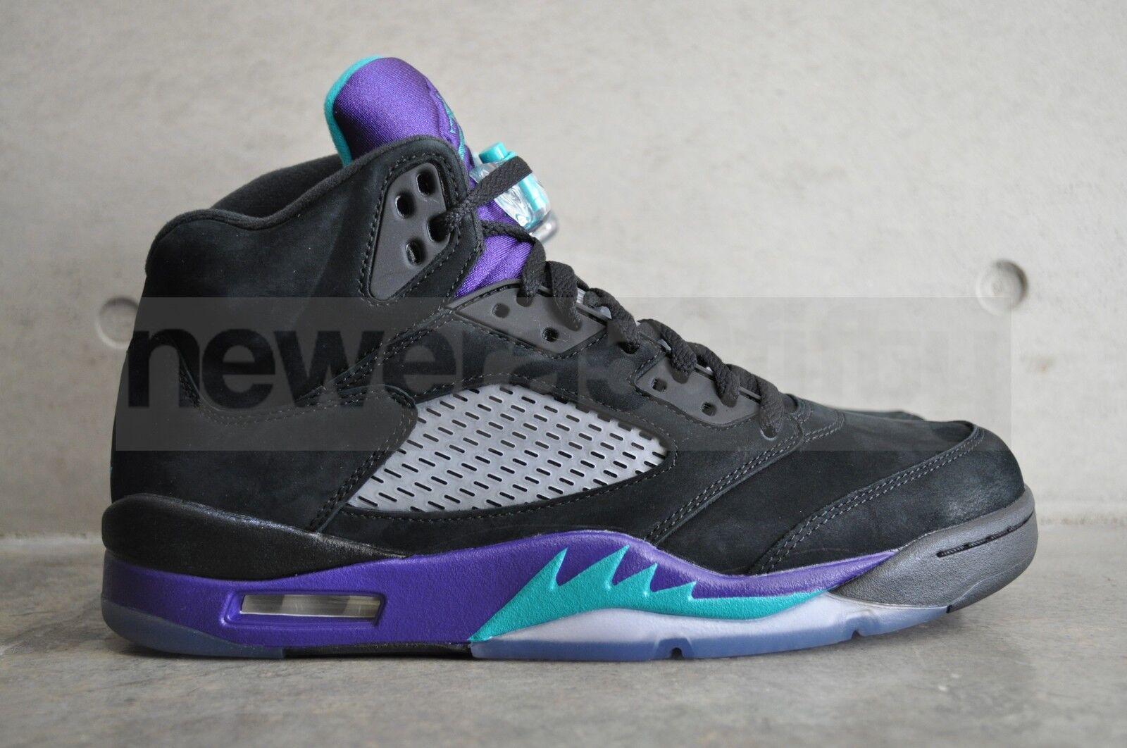 Nike Jordan 5 Retro  Negro Air Air Air uva  - Negro Nuevo Esmeralda Uva De Hielo d9c157