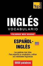 Vocabulario Español-Inglés Americano - 9000 Palabras Más Usadas by Andrey...