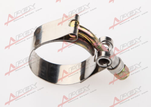 """1.5/"""" inch Turbo Pipe Hose Coupler T-bolt Clamp Stainless Steel 43//49mm"""
