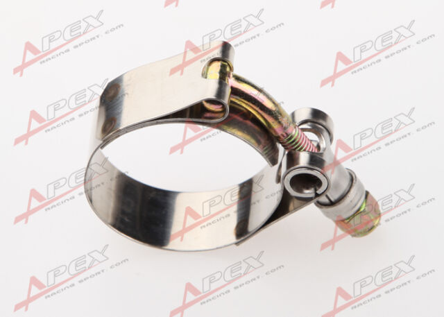 """2.0"""" Inch Turbo Pipe Hose Coupler T-bolt Clamp Stainless Steel 54 To 62mm"""