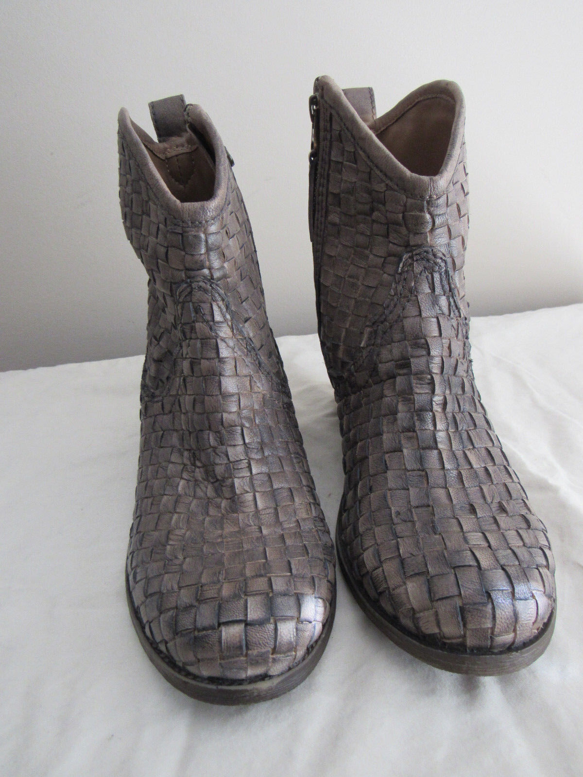 NEW SHERIDAN MIA WOVEN LEATHER ANKLET  BOOTS SIZE 37