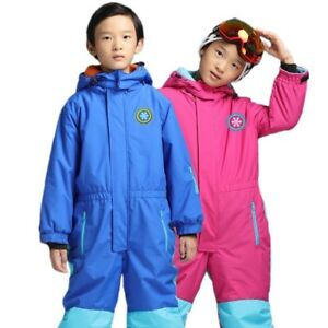 92ad6d219 Kids Ski Suit Jacket One Piece Thermal Waterproof Windproof Boys ...