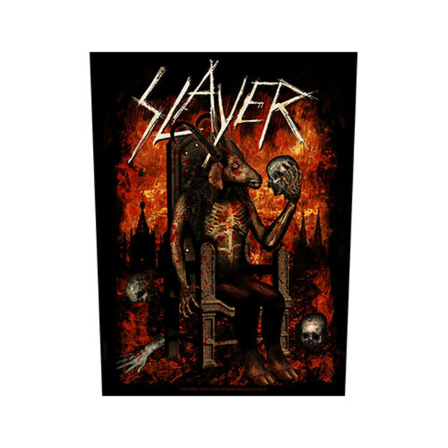 Slayer Egyptian Devil Official Giant 30x36x27cm Sew On Back Patch