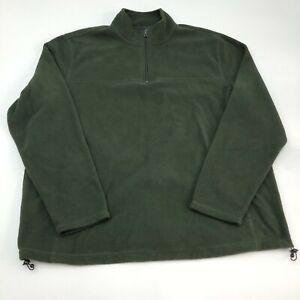 Croft-amp-Barrow-Fleece-Jacket-Mens-2XL-Green-1-3-Zip-High-Neck-Insulated-Pullover