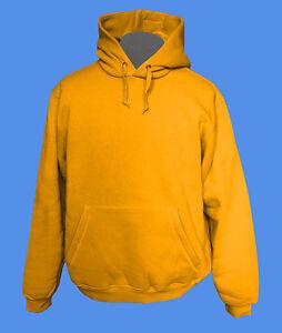 Hoody-Kapuzenpullover-B-amp-C-Rohware-unbedruckt-blanko-honey-honig-gelb-M