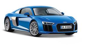 Maisto-Audi-R8-V10-Plus-Bleu-Bleu-1-24-Art-31513