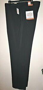 Big-Tall-Van-Heusen-Traveler-Premium-Non-Iron-Stretch-Pants-Mens-42x36-Charcoal