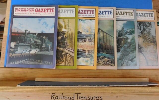 Narrow Gauge & Short Line Gazette Complete Year 1989 6