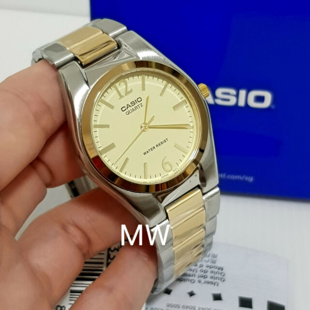 Casio Fashion Dress Men's Two Tone Analog Watch MTP1253SG MTP-1253SG-9A FreeShip