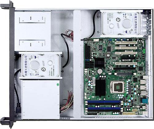 "3xHorizontal Riser// 7Slot 2x5.25/""+6xHDD 4x4cm fans 2U ATX Rackmount Case NEW"