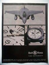 PUBLICITE-ADVERTISING :  BELL & ROSS BR03 Desert Type 2016 Montres,Avions,Rafale