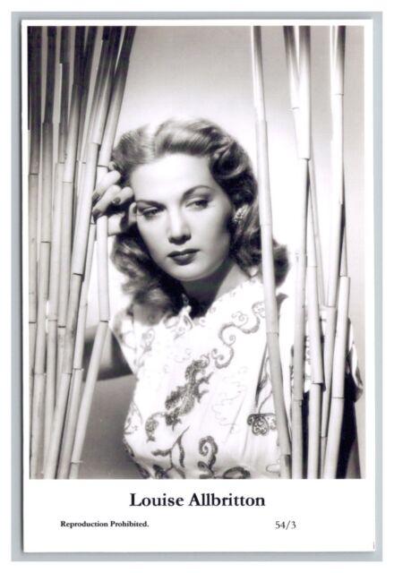 Louise Allbritton c Swiftsure Postcard year 2000 modern print 54/3 glamour photo