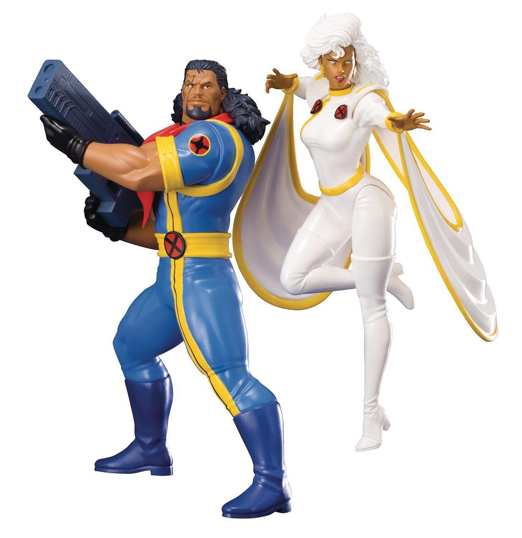 Kotobukiya Artfx-Marvel Universo X-men 92-obispo y estatuas de tormenta