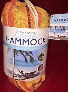 New-Orange-HAMMOCK-Tree-Anchored-LOUNGE-Hammock-78-034-x-32-034-220lbs-LimIt-Carry-BaG