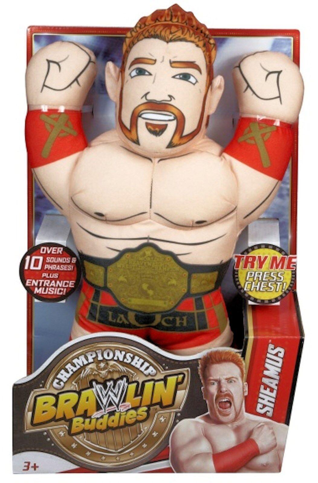 WWE Championship Brawlin' Buddies SHEAMUS New Talking 15  Soft figure plush